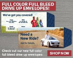 CUSTOM W/ FULL COLOR & FULL BLEED DRIVE UP ENVELOPE