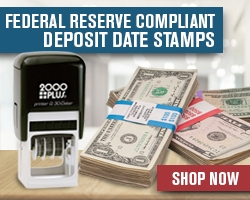 FEDERAL RESERVE COMPLIANT DEPOSIT DATE STAMPS